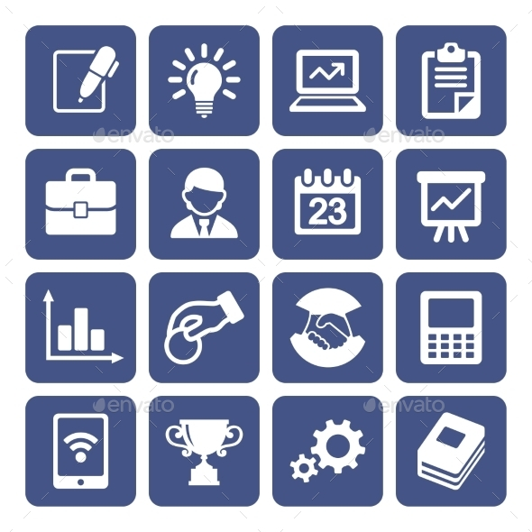 GraphicRiver Business Icons Set 10468700