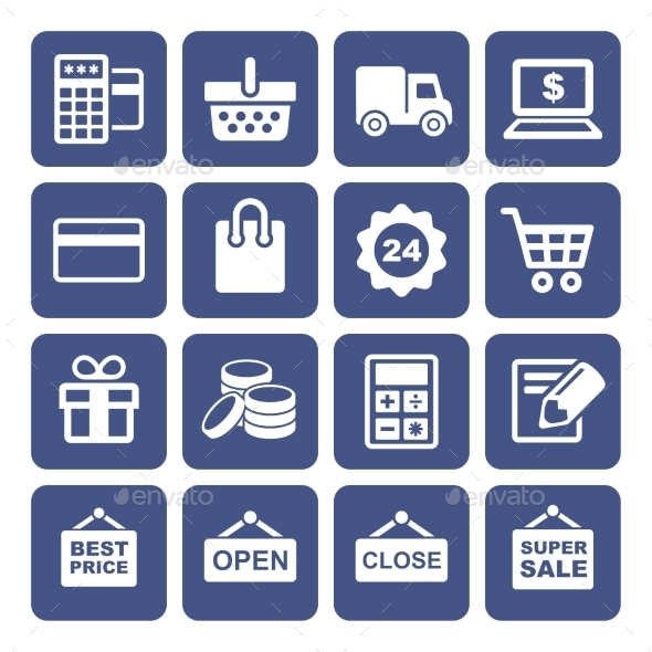 GraphicRiver Shopping Icons Set 10468705