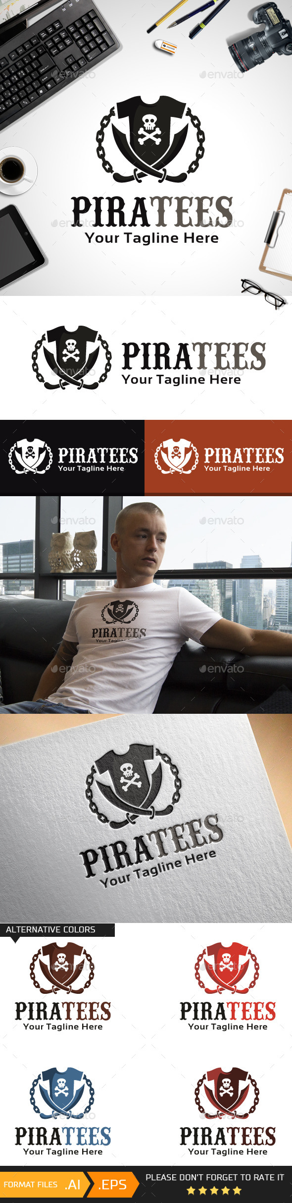 GraphicRiver Piratees Logo Template 10468712
