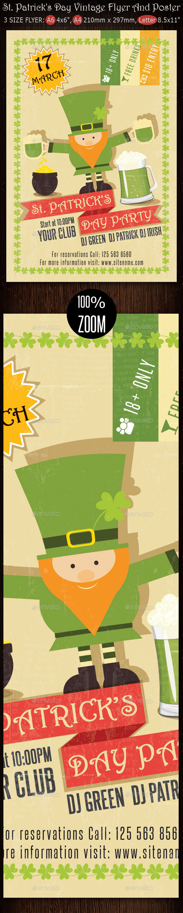 GraphicRiver St Patrick s Day Vintage Flyer And Poster 10468714