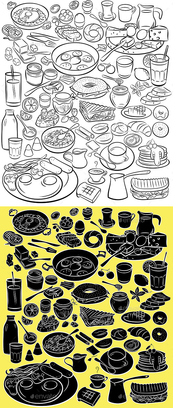 GraphicRiver Breakfast Set 10468766