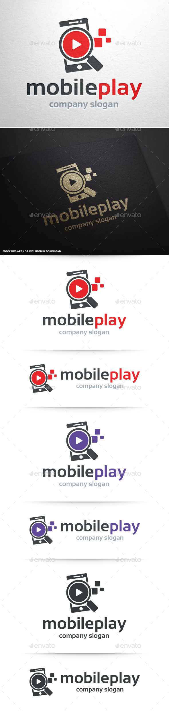 GraphicRiver Mobile Play Logo Template 10468775