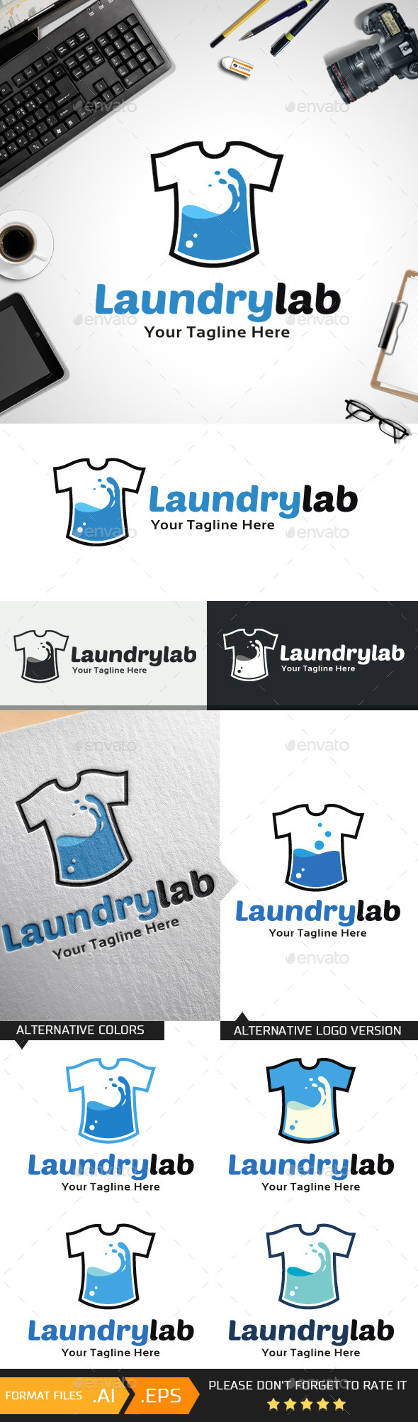 GraphicRiver Laundry Lab Logo Template 10468789