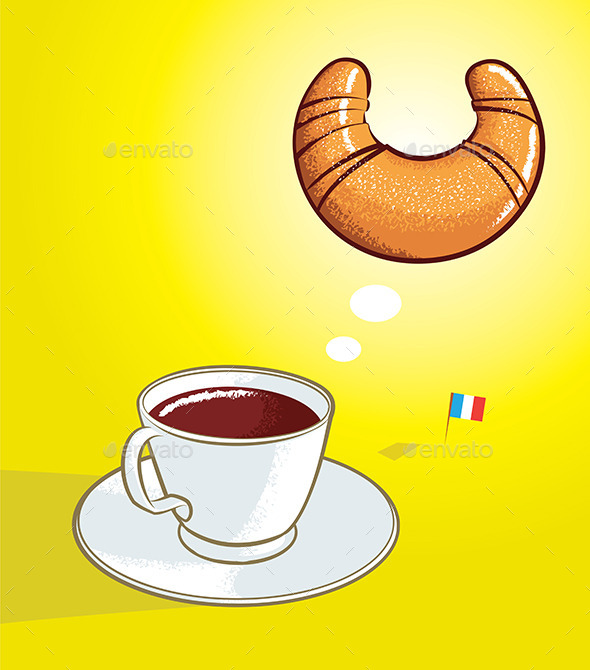 GraphicRiver Coffee and Croissant 10468832