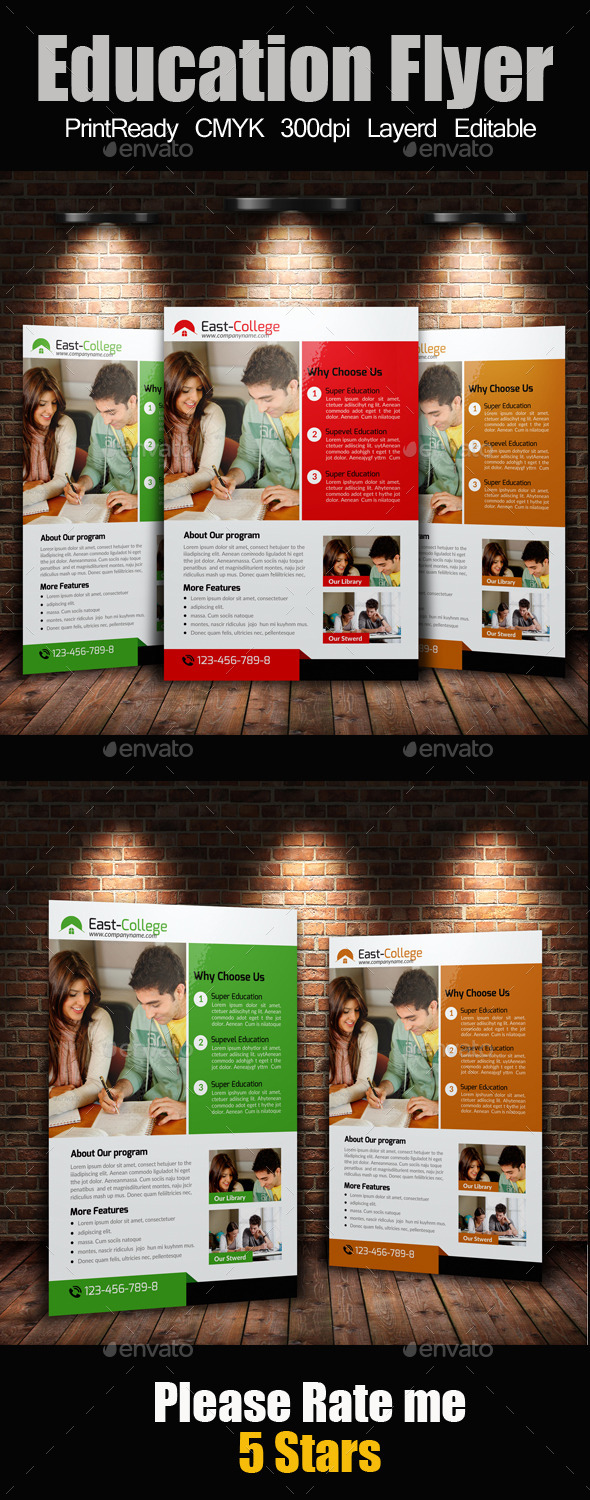 GraphicRiver A4 education Flyer 10414334