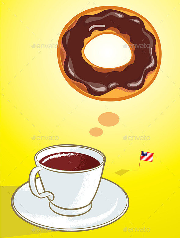 GraphicRiver Coffee Donut 10468859