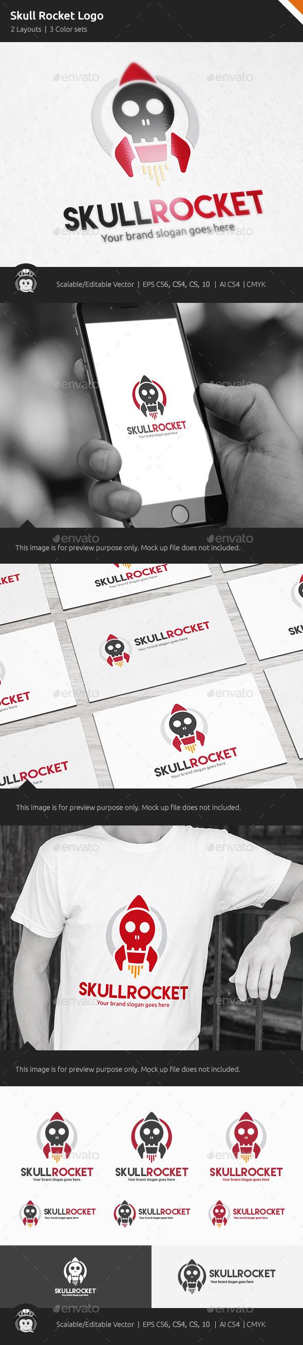 GraphicRiver Skull Rocket Logo 10468918
