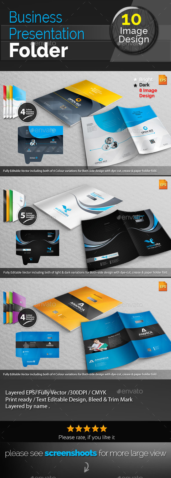 GraphicRiver Corporate Presentation Folder Bundle 10468989