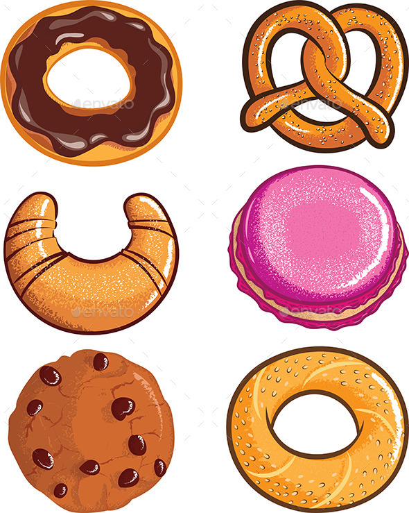 GraphicRiver Pastry Assortments 10469007