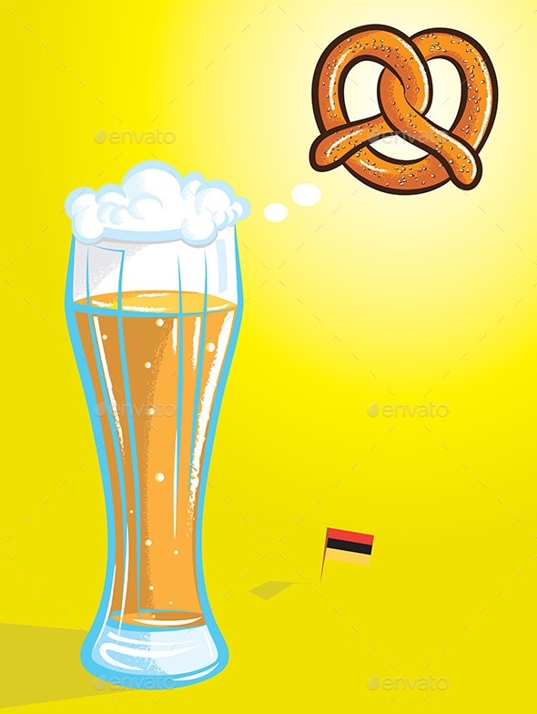 GraphicRiver Beer and Pretzel 10469033
