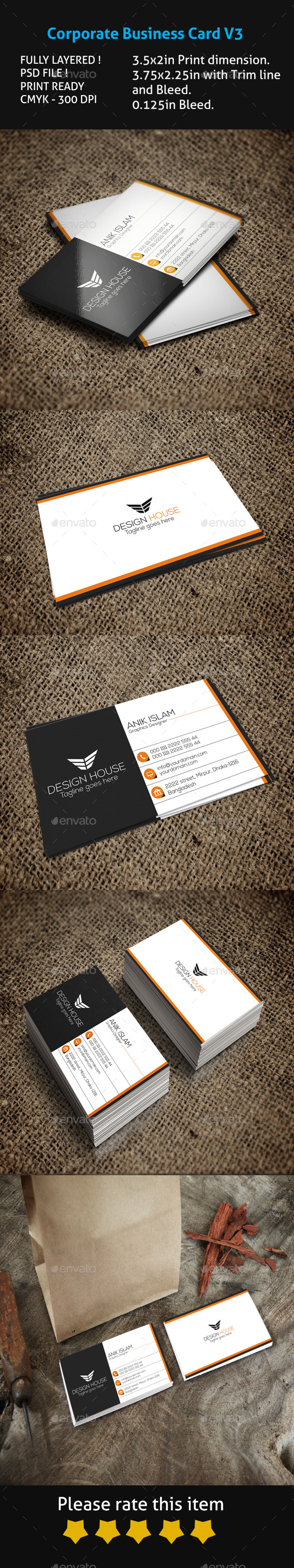 GraphicRiver Corporate Business Card V3 10469044