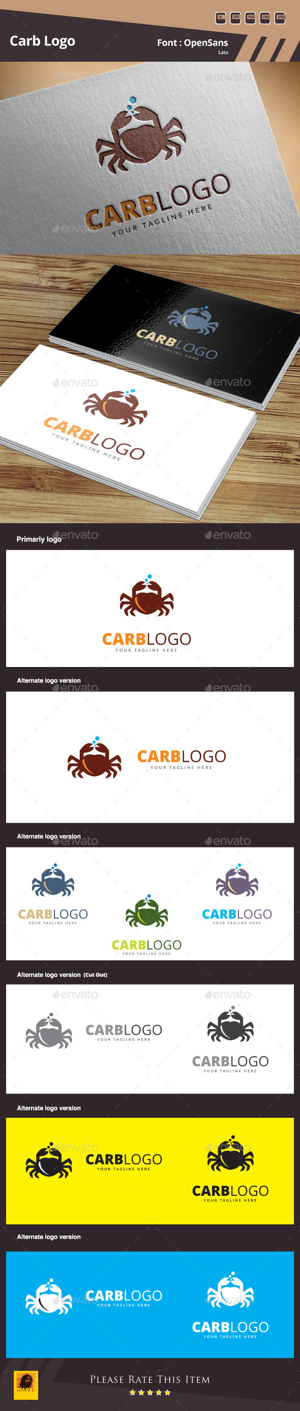 Crab Logo Template