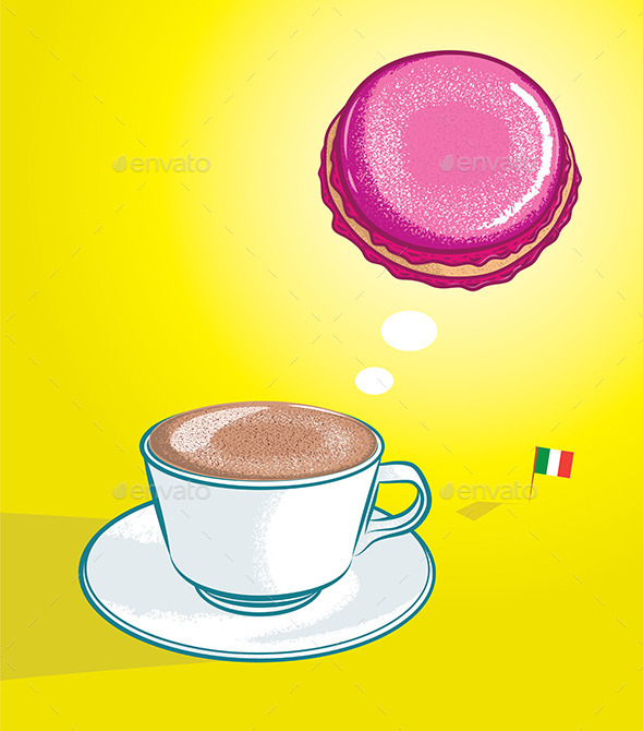 GraphicRiver Cappuccino and Macaron 10469139