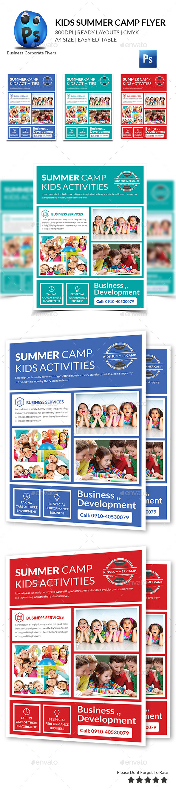 GraphicRiver Kids Summer Flyers Print Templates 10469164