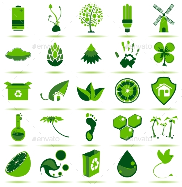 GraphicRiver Green Eco Icons 2 10469190