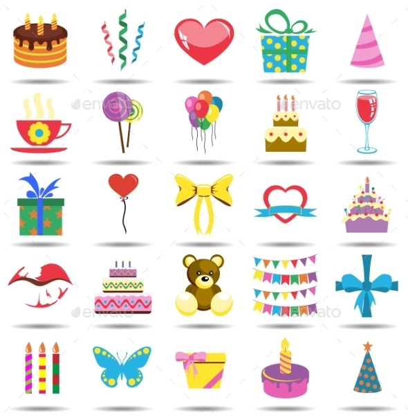 GraphicRiver Happy Birthday Icons 10469194