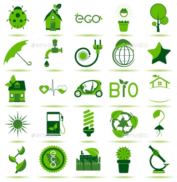 GraphicRiver Green Eco Icons 3 10469198