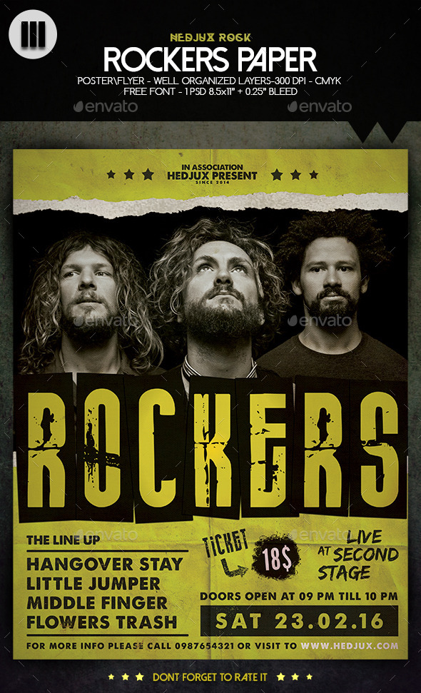GraphicRiver Rockers Paper Flyer 10469213