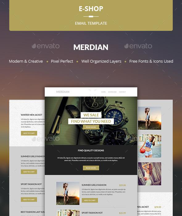 GraphicRiver Merdian E-shop Template 10469254