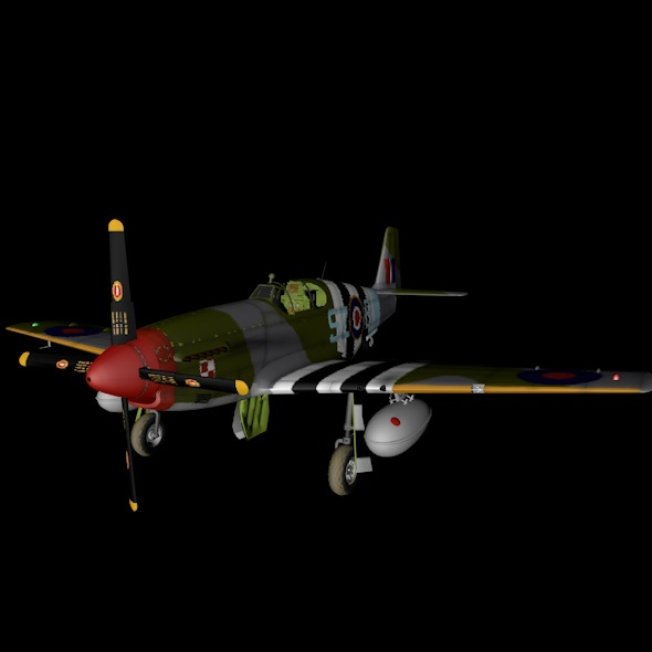 North American P-51 Mustang - 3DOcean Item for Sale