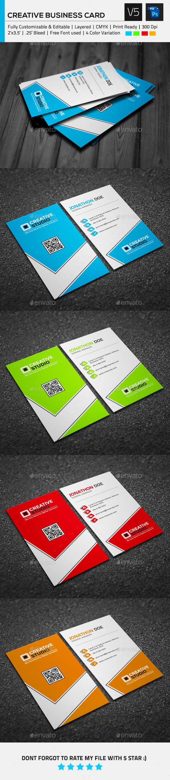 GraphicRiver Creative Business Card V5 10420065