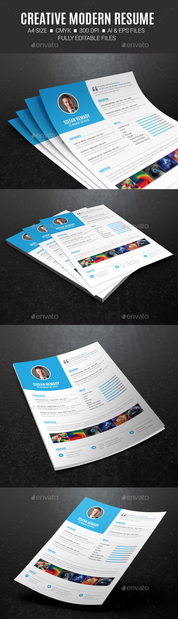 GraphicRiver Creative Modern Resume 10469448