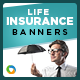 Life Insurance Banners - GraphicRiver Item for Sale