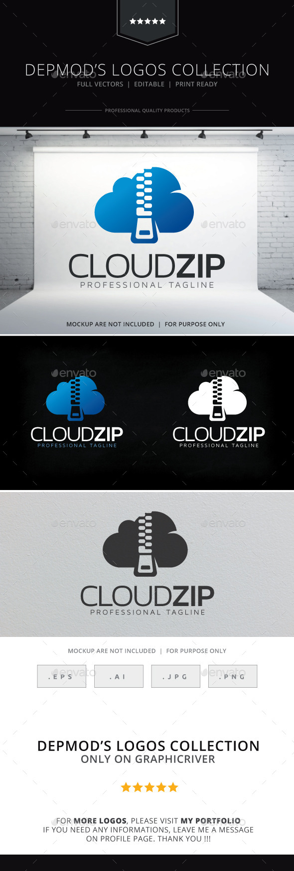 Cloud Zip Logo