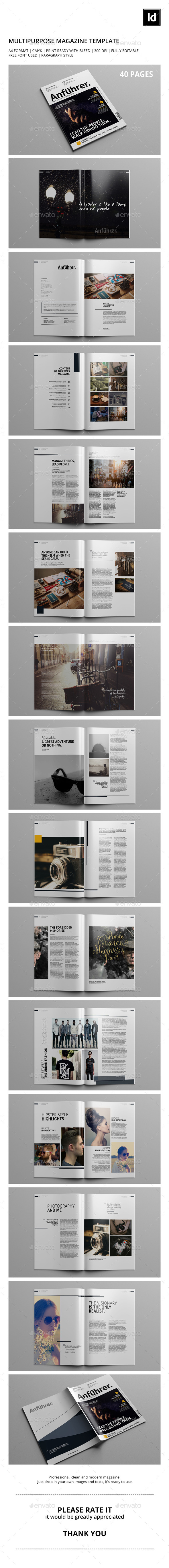 GraphicRiver 40 Pages Multipurpose Magazine Template 10469913