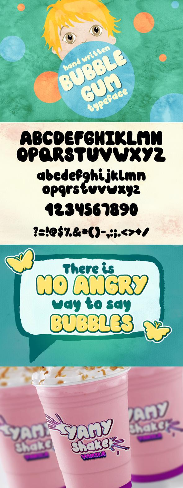GraphicRiver Bubble Gum hand written font 10470030