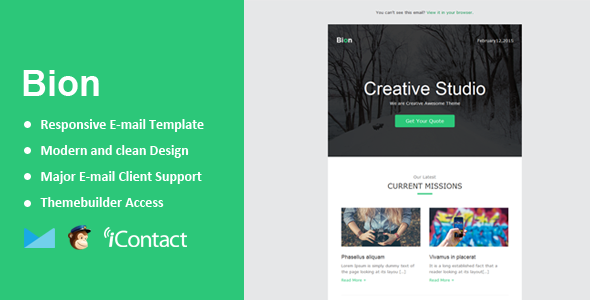 ThemeForest Bion Responsive Email & Themebuilder Access 10470058