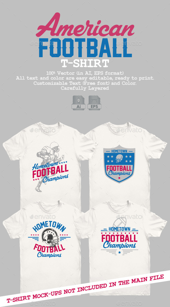GraphicRiver American Football T-Shirt 10470125