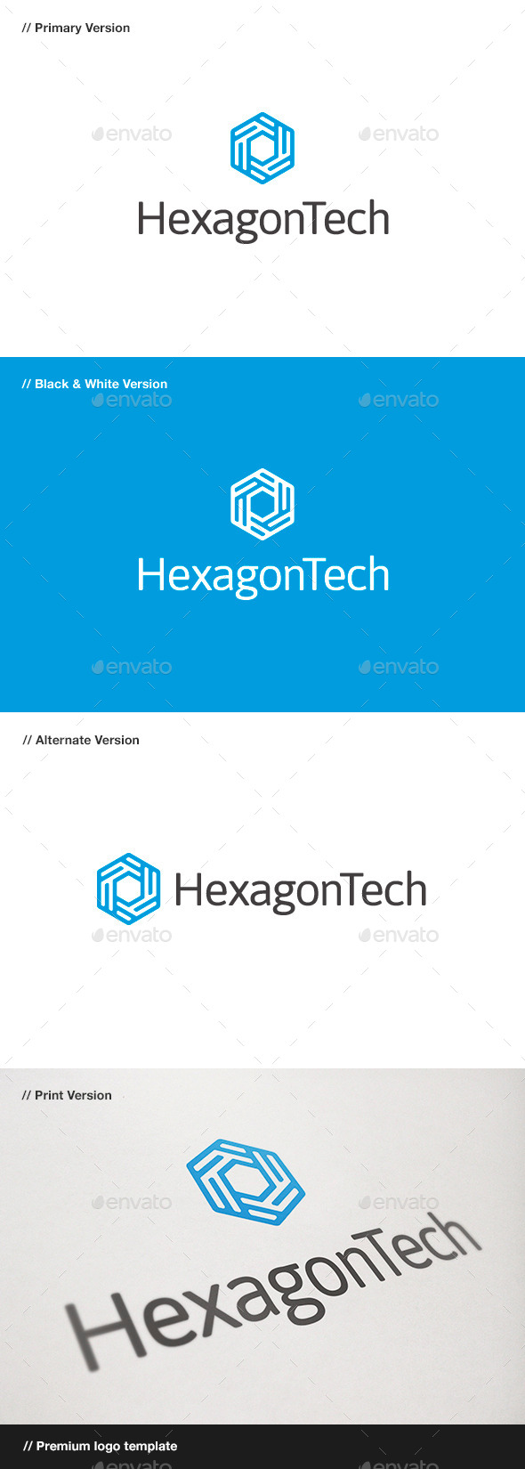 GraphicRiver Hexagon Tech Logo 10470232