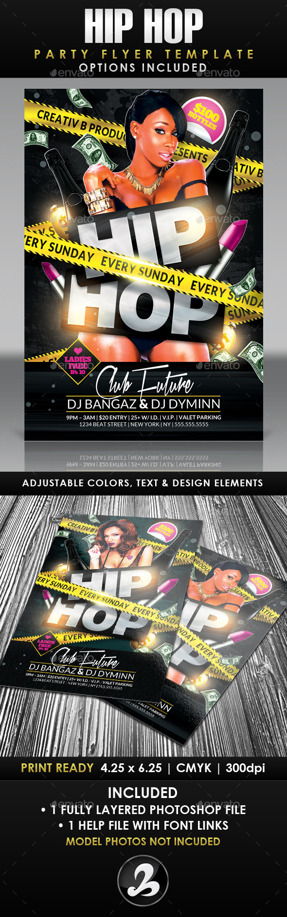 GraphicRiver Hip Hop Party Flyer Template 2 10470265