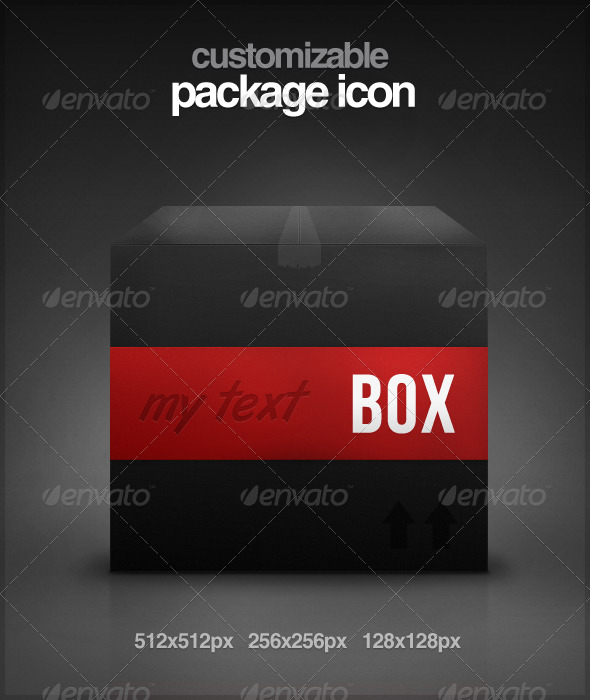 GraphicRiver Customizable Package Icon 130412