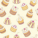 Cupcakes Seamless Pattern - GraphicRiver Item for Sale