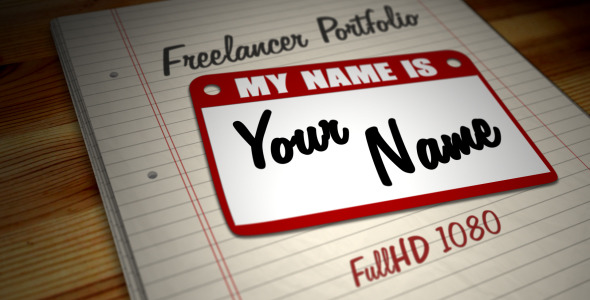 After Effects Project - VideoHive Freelancer Portfolio Hi My Name is.. 1054574