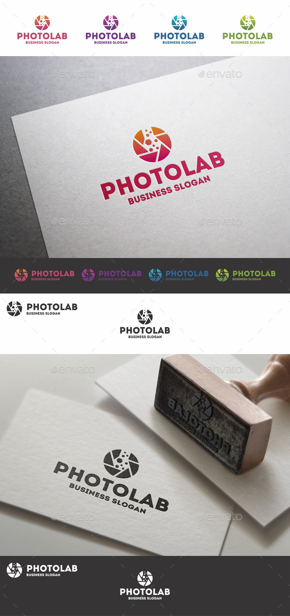 GraphicRiver Photo Lab Photography Studio Logo 10470802