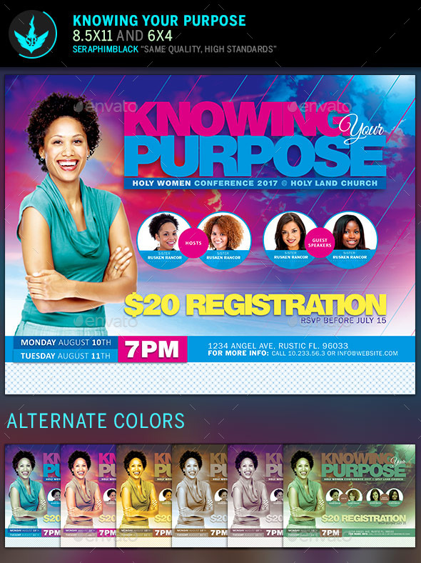 GraphicRiver Knowing Your Purpose Church Flyer Template 10470850