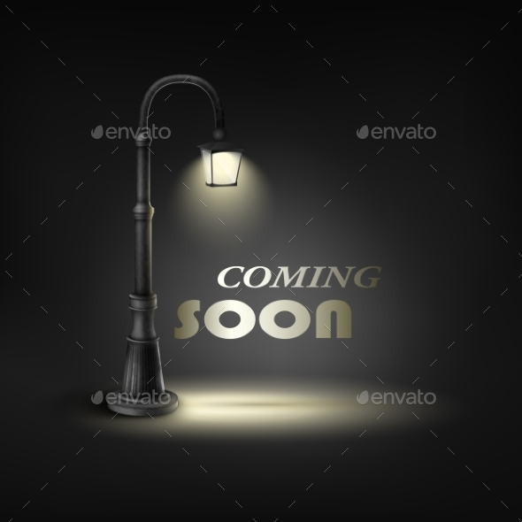 GraphicRiver Coming Soon Under Street Lamp 10471454