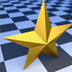 Low Poly Gold Star
