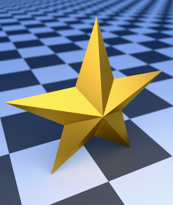 3DOcean Low Poly Gold Star 10471571