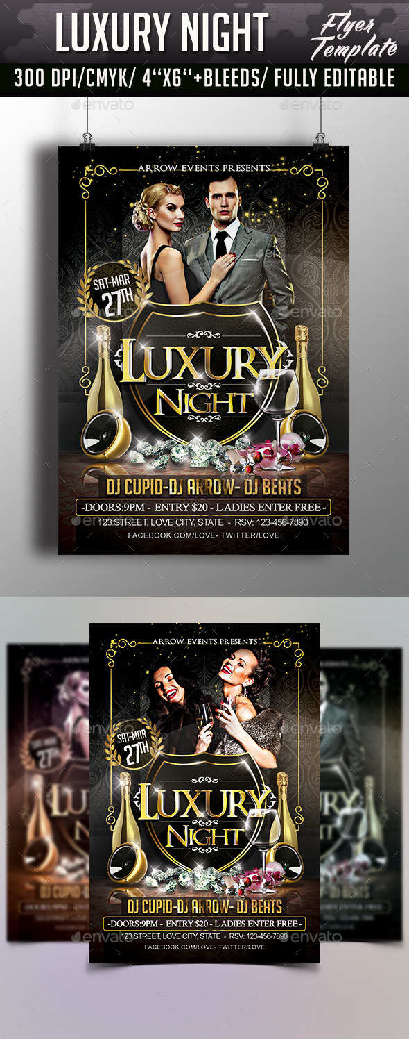 GraphicRiver Luxury Night Flyer Template 10423153