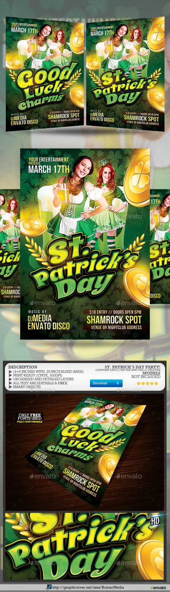 GraphicRiver St Patrick s Day Party Flyer 10472063
