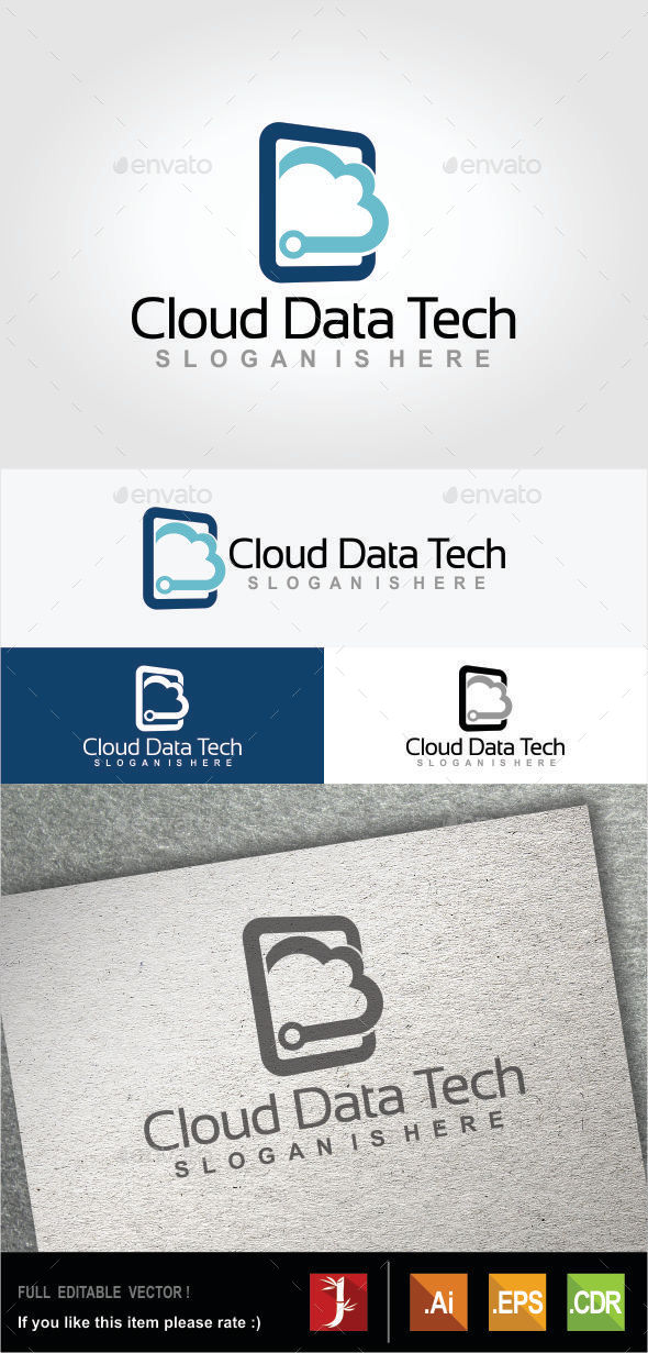 GraphicRiver Cloud Data Tech 10472291