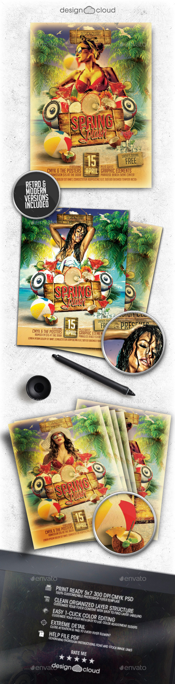 GraphicRiver Spring Splash Flyer Template 10472345