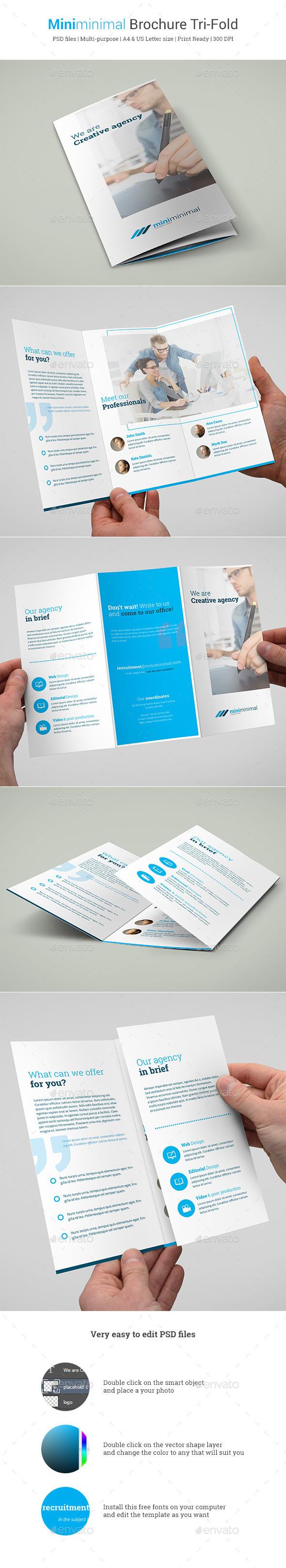 GraphicRiver Miniminimal Brochure Tri-Fold 10472350
