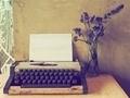 vintage typewriter on the wood texture - PhotoDune Item for Sale