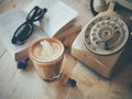 cup of coffee on the wooden desk - PhotoDune Item for Sale