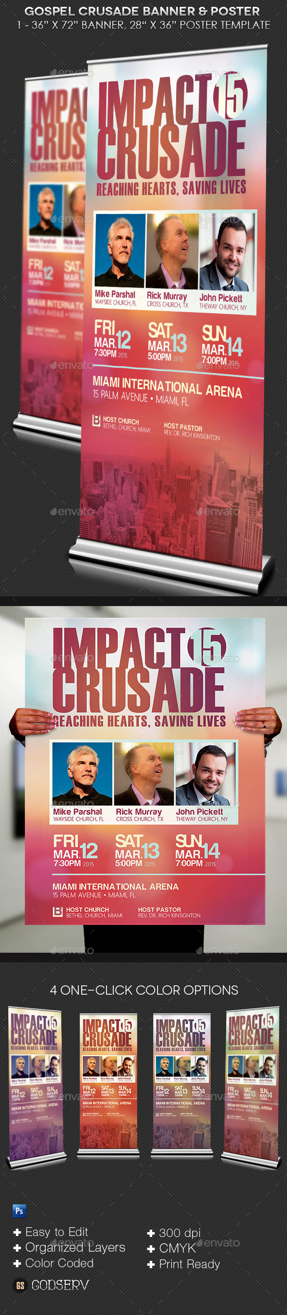 GraphicRiver Gospel Crusade Banner and Poster Template 10472374